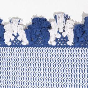 Têxtil - Inspiração - Azul - Branco - Algodão - Tecelagem