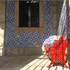 Red - Bench - Azulejos - Porto