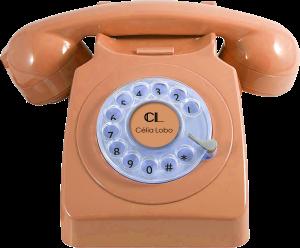 Retro Phone - sable chaud