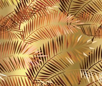 Rouge Absolu - Célia Lobo - Palms - Interior - Design - Interior Design - Decor - Home - Decoração - Wallpaper - Papel de parede - Papier-peint - Pop - Colors - Design - Cores - Print Design - Textile Design - Têxtil Design - Estampados - Pattern - Imprimés - Gold - Ouro - Or - Luxe