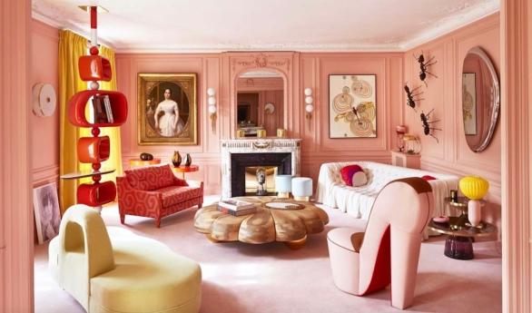 Rouge Absolu - Célia Lobo - Interior - Design - Interior Design - Decor - Home - Decoração - Palms - Wallpaper - Papel de parede - Papier-peint - Pop - Colors - Design - Cores - Print Design - Textile Design - Têxtil Design - Estampados - Pattern - Imprimés - Rugs - Tapis - Tapetes - Cushions - Coussins - Almofadas - Luxe