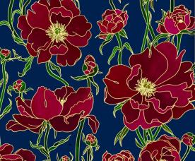 Weronika Anna Rosa - Célia Lobo - Interior - Design - Interior Design - Decor - Home - Decoração - Wallpaper - Papel de parede - Papier-peint - Tissus - Textile - Tecido - Pop - Colors - Design - Cores - Print Design - Textile Design - Têxtil Design - Estampados - Pattern - Imprimés - Flower - Flor - Luxe