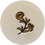 Célia Lobo - FLOR - Gold and Black embroidery