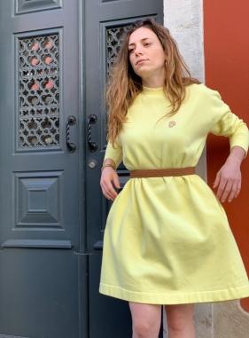 Célia Lobo - Dress BOLOTA Limão - 100% Organic Cotton