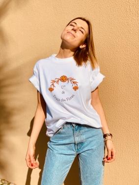 Célia Lobo - T-Shirt PRAÇA DAS FLORES - 100% Organic Cotton
