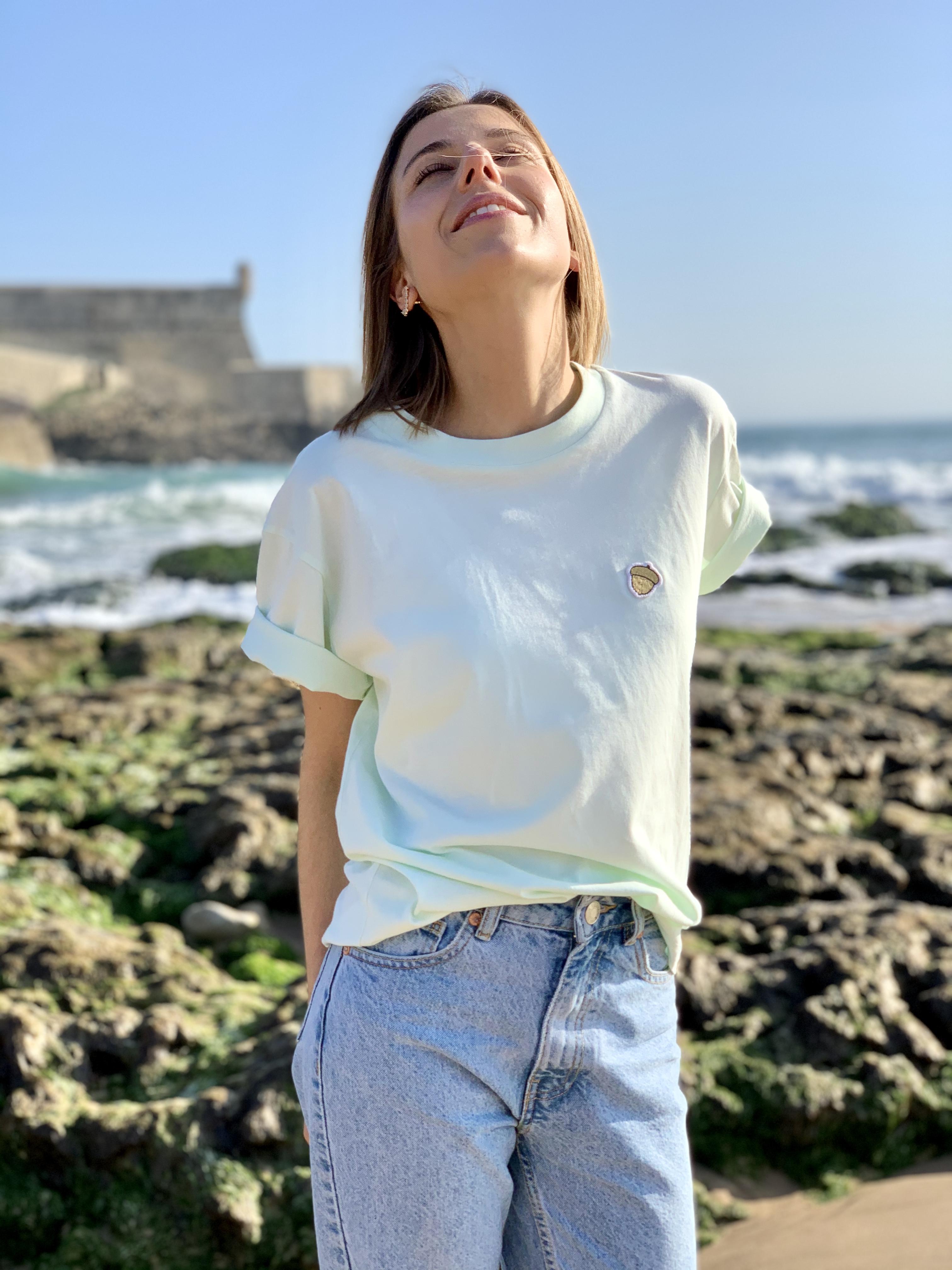 Célia Lobo - T-Shirt BOLOTA Mint - 100% Organic Cotton