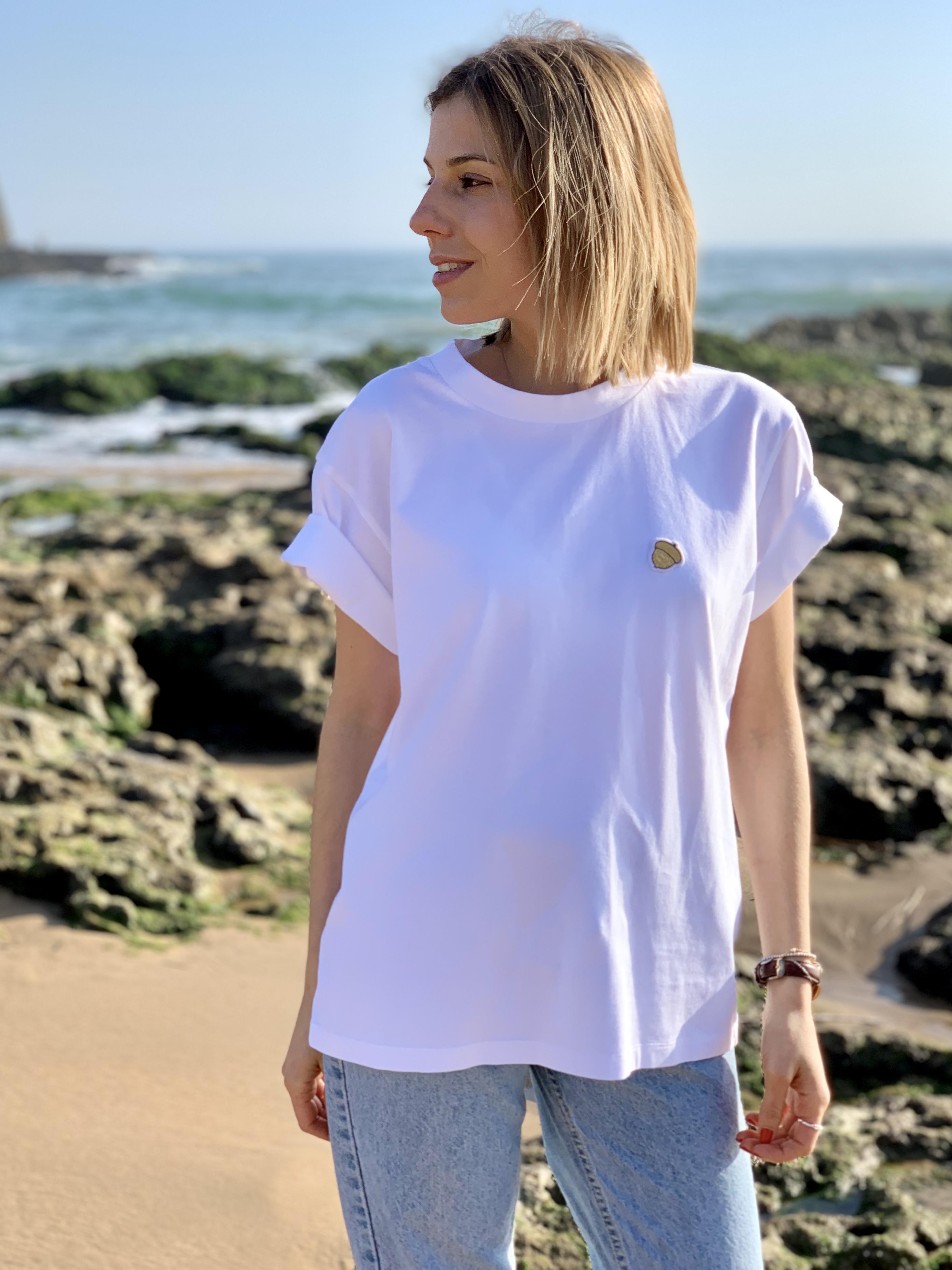 Célia Lobo - T-Shirt BOLOTA White - 100% Organic Cotton