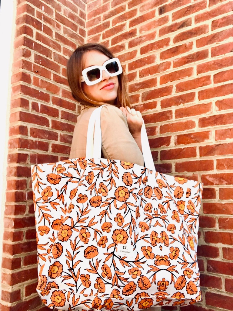 Célia Lobo - Tote bag FLOR Sienna - 100% Cotton