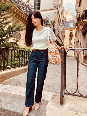 Célia Lobo - T-shirt FLOR Mint - 100% Organic Cotton - Tote bag FLOR Sienna - 100% Cotton