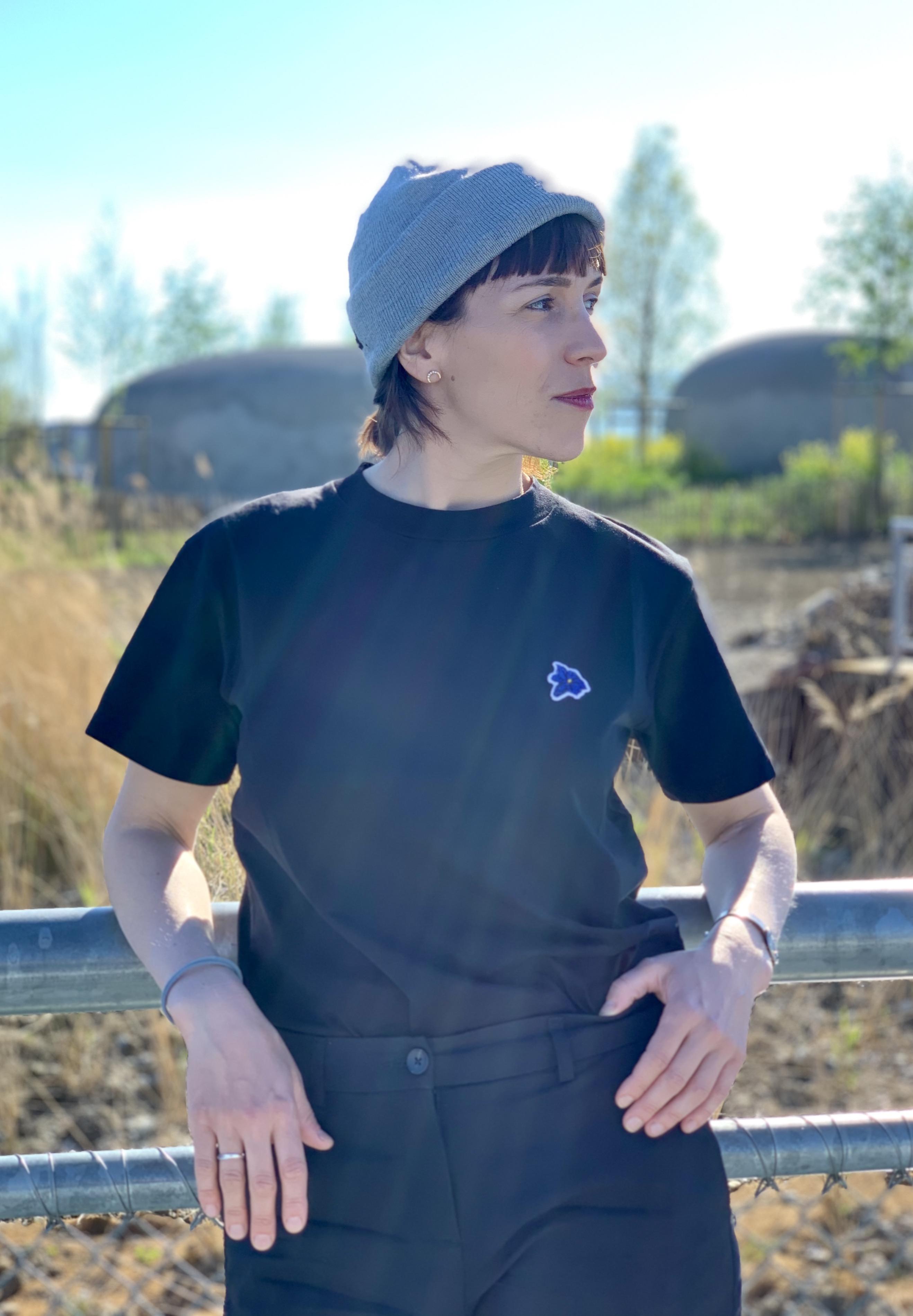 T-Shirt Gentiane - Black - 100% Organic Cotton