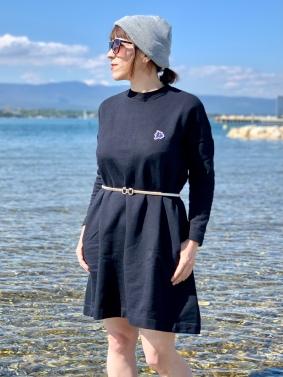 Dress GENTIANE - Black - 100% Organic Cotton