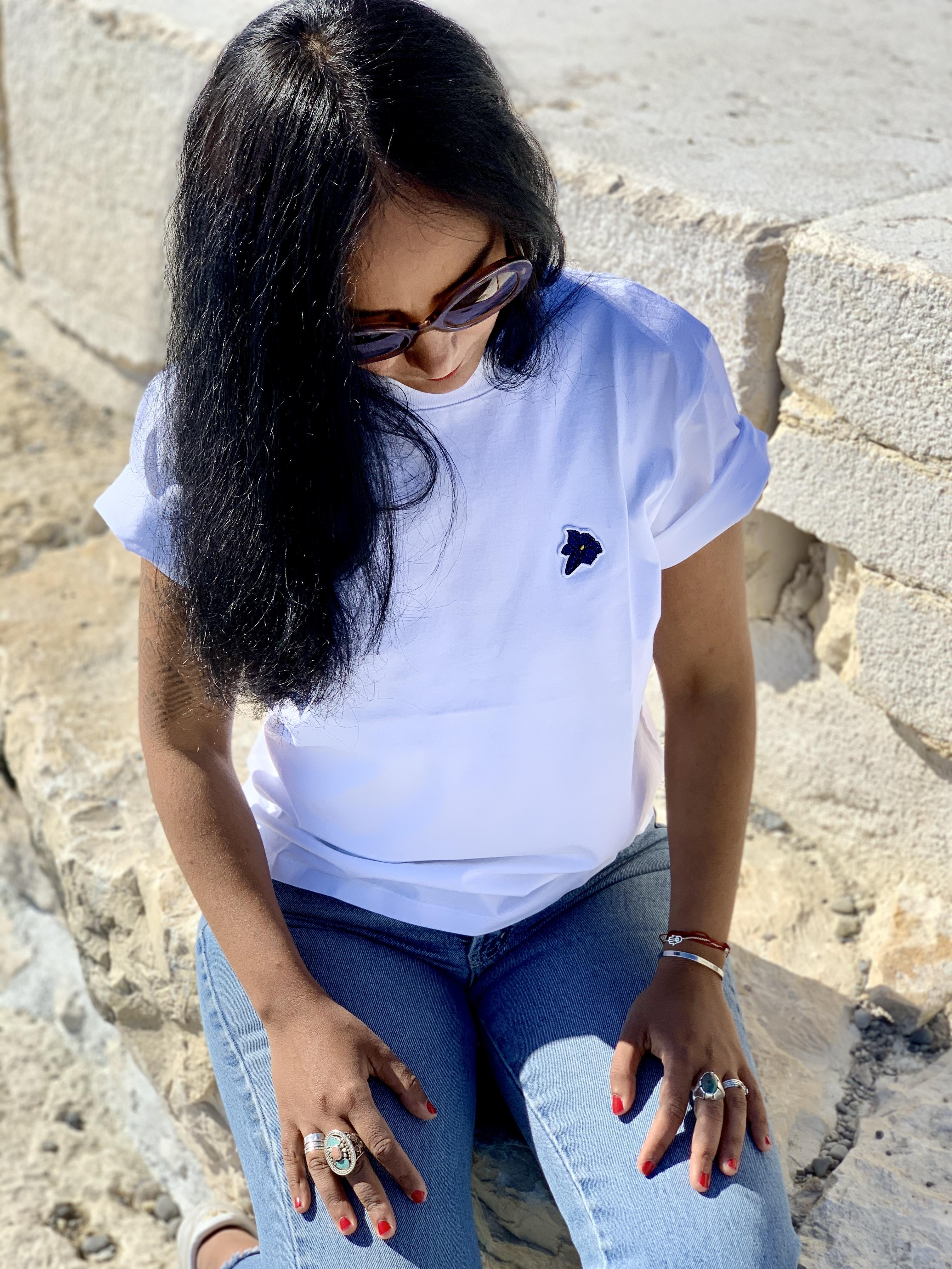 T-Shirt GENTIANE - White - 100% Organic Cotton